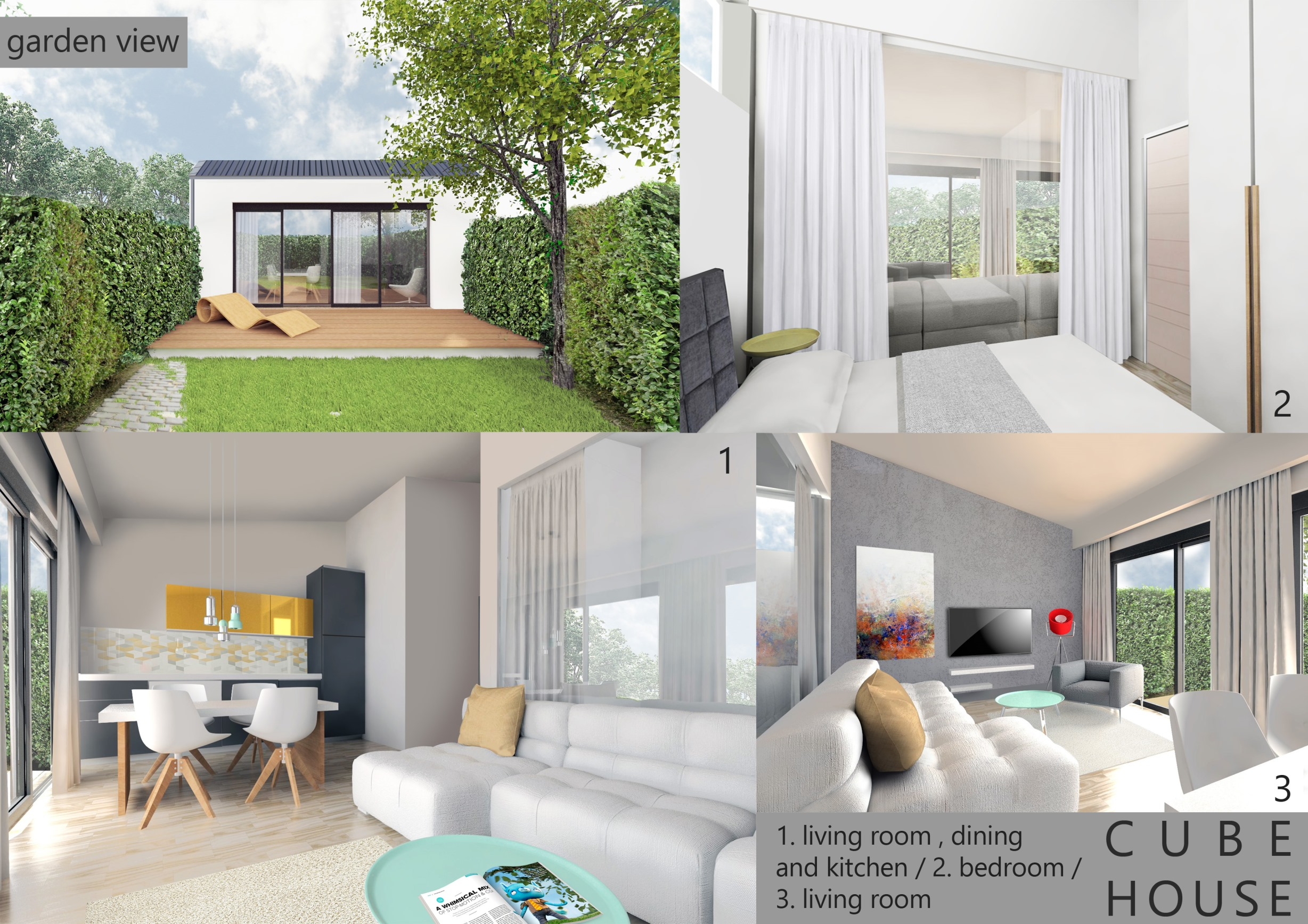 Rectangular House Has Bigger Area Of 38 Square Meters , And Has This Long  Shape, That Brings You From Corridor To Open Space Of Living Room To The  Bedroom ...